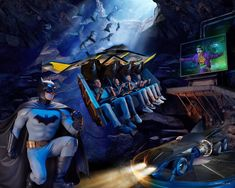 Top 6 Ways Warner Bros. World Abu Dhabi will knock your socks off! Classic Cartoon Characters, Classic Cartoons, Iconic Characters, Roller Coaster Ride, Riddler, Comics Universe, Amusement Parks, Gotham City, Warner Bros