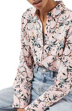 Women's Topshop Cherry Blossom Shirt