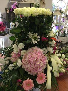 Ortensie rose bianche lisianthus