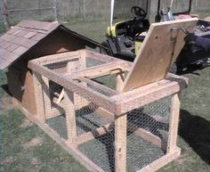 This page has other diy plans for compost bins, bee hive and frame plans, more...a chicken coop for a do-it-yourself-project