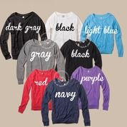 Customize your own slouchy long sleeve top.. #loveandwarclothing #milso