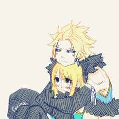 I ship nalu but this is cute❤ Fairy Tail Lucy, Fairy Tail Sting, Fairy Tail Nalu, Fairy Tail Couples, Sting X Lucy, Fairy Tail Comics, Fariy Tail, Comic Drawing, Love Fairy