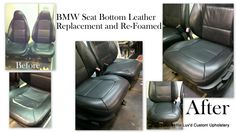 reluvd BMW seat bottom leather replacements and re-foamed to make them more comfortable for the client.