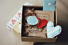 That little fabric heart would be cute on the outside too. oh, hello friend: you are loved.: packaging