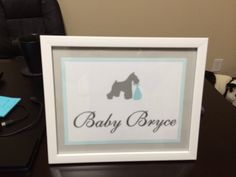 Baby Bryce Baby On The Way, Baby Shower, Frame, Decor, Babyshower, Picture Frame, Decoration, Decorating, Baby Showers