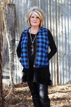 Checkered Vest - Wear Us Out Boutique Conroe/ Montgomery Texas