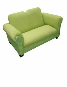 Amazon.com: Newco Kids Deluxe Kids Sofa, Lime Velvet with Lime Sequins: Baby