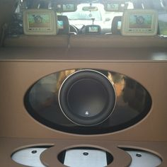 custom car stereo trunk install JL Audio