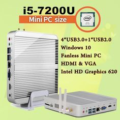 Mini PC [7e Gen Intel Core i5 7200U]Max 3.1 GHz Sans Ventilateur Nuc HTPC Intel HD Graphics 620 gabinete computer Best  Win10
