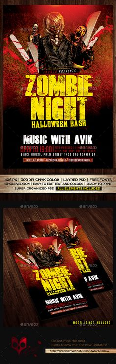 Christmas Party Flyer Template Party flyer, Flyer template and - zombie flyer template