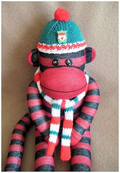 Liverpool FC Monkey - made for a friend of my son.