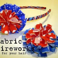 Fabric Firework Headbands {July 4 Crafts}