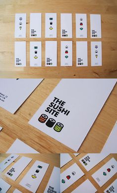 The Sushi Site cute minimalist branding. #identity
