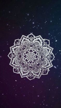 iPhone Wallpaper - Galaxy Background and White Mandala🌸 Phone Wallpapers Tumblr, Cute Tumblr Wallpaper, Tumblr Backgrounds, Cute Wallpaper For Phone, Cute Wallpapers, Mandala Wallpapers, Pretty Backgrounds, Hipster Wallpaper, Aesthetic Backgrounds