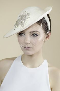 9f16590b2bc Collection of contemporary Bridal  Millinery from Maggie Mowbray   hatacademy Wedding Fascinators