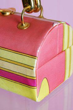 Vintage Emilio Pucci box purse. Love the colors!