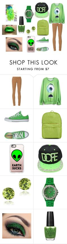 """Green"" by collinsmac on Polyvore featuring AG Adriano Goldschmied, Converse, Vera Bradley, Casetify, Glitzy Rocks, Geneva and OPI"