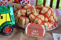 Hay Bale Rice Krispy Treats