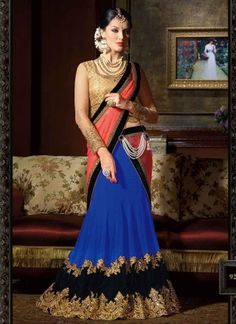 Graceful Blue And Beige Designer lehenga choli http://www.angelnx.com/Lehenga-Choli/Designer-Lehenga-Choli