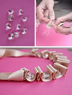 DIY Ribbon necklace by Ink and Button