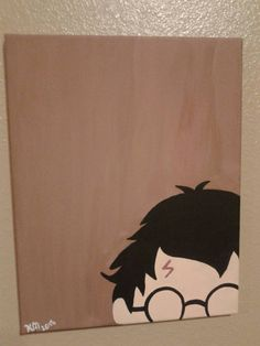 Harry Potter Canvas by PaintedFandomShoes on Etsy