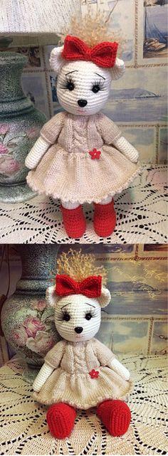 Mesmerizing Crochet an Amigurumi Rabbit Ideas. Lovely Crochet an Amigurumi Rabbit Ideas. Crochet Shrug Pattern, Crochet Toys Patterns, Amigurumi Patterns, Stuffed Toys Patterns, Free Pattern, Knitting Patterns, Crochet Bear, Cute Crochet, Crochet Animals
