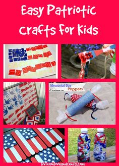 Easy Patriotic Crafts For Kids for Memorial Day crafts or 4th of July Crafts #MemorialDay