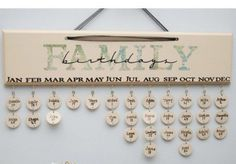 Birthday calendar idea - but much simpler wood or slate?