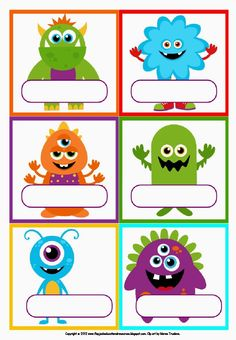Freebie Labels - Little Monsters! Would be good to label food etc Monster Book Of Monsters, Cute Monsters, Monsters Inc, Little Monsters, Monster Food, Monster Party, Monster Birthday Parties, Monster Theme Classroom, Classroom Themes