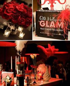 Old Hollywood Glam- table Centerpieces