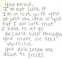its not love if you're broken half the time. if you're pushed to ask these questions to yourself. let go.