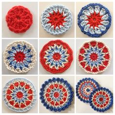 Transcendent Crochet a Solid Granny Square Ideas. Inconceivable Crochet a Solid Granny Square Ideas. Motif Mandala Crochet, Granny Square Crochet Pattern, Crochet Flower Patterns, Crochet Squares, Crochet Granny, Diy Crochet, Crochet Designs, Crochet Crafts, Crochet Projects