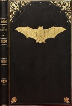 Bat on black book cover - black And gold