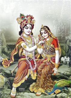 Krishna Admiring Radha- (Poster with Glitter) - Hindu Posters (Reprint on Paper - Unframed) Lord Krishna Images, Radha Krishna Pictures, Radha Krishna Photo, Krishna Photos, Arte Krishna, Krishna Leela, Jai Shree Krishna, Krishna Drawing, Krishna Painting