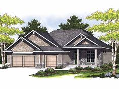 Eplans Ranch House Plan - Smart and Affordable - 1867 Square Feet and 3 Bedrooms(s) from Eplans - House Plan Code HWEPL12946