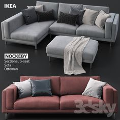 Superb Sofas And Ottoman IKEA NOCKEBY