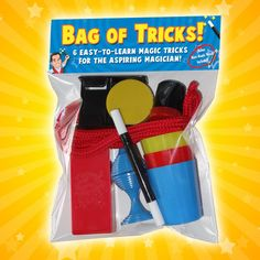 Perfect for little magicians, this birthday party gift will keep kids learning and putting on shows for days. Or, you can use it as a magic party favor. $4.60
