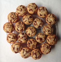 Apple muffins for autumn'n celebration.