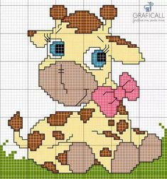 Cross Stitch For Kids, Cross Stitch Baby, Cross Stitch Animals, Cross Stitch Charts, Counted Cross Stitch Patterns, Cross Stitch Embroidery, Embroidery Patterns, Hand Embroidery, Wedding Cross Stitch Patterns