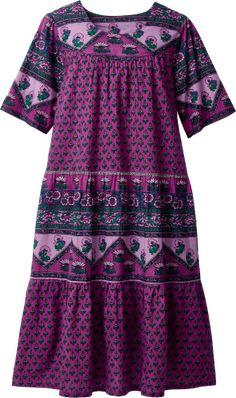 Mid Length Cotton Muumuu - Relaxed Fit Lounge Dress
