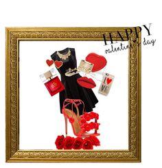 """#valentine's day"" by alicja234 on Polyvore featuring Aquazzura, DKNY, Lanvin, Oscar de la Renta, Casetify, Kate Spade, women's clothing, women, female and woman"