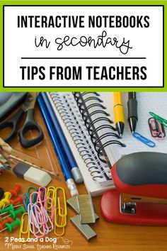 Tips for Using Interactive Notebooks - 2 Peas and a Dog Teaching Themes, Teaching Writing, Teaching Science, Teaching Strategies, Science Lessons, Life Science, Reading Notebooks, Interactive Student Notebooks, Middle School Reading