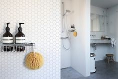 Extension Update | Natural sponge, Hexagon mosaic tile and Soap holder
