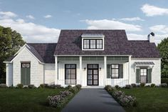 Southern Style House Plan 40341 with 4 Bed, 4 Bath, 2 Car Garage Building A Porch, Building A House, American Houses, Southern House Plans, Modern Farmhouse Plans, Farmhouse Style, House With Porch, Level Homes, House