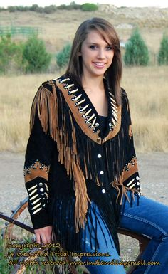 The Cheyenne in Black and Cognac Suede Fringe Coats, Fringe Leather Jacket, Suede Jacket, Leather Jackets, Jean Jackets, Western Hats, Western Wear, Western Jackets, Cowboy Hats