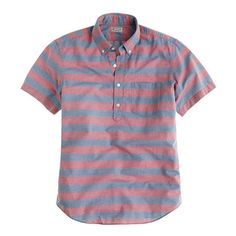 J. Crew Short-sleeve button-down henley in rugby stripe - $75