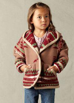 handmade children's Pendleton coats