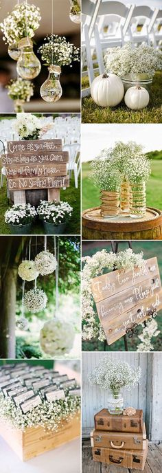 elegant baby's breath wedding decoration ideas