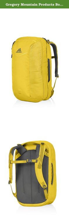 Gregory Mountain Products Border 35 Backpack, Dijon Yellow, One Size. The sleek, lightweight, and functional border features a clamshell opening design that speeds access, improves organization of work and play gear, and places the pack's dedicated laptop and tablet sleeves in easy reach for TSA compliance. The clean exterior not only looks smart, it sheds weather and resists snagging in crowded subway cars.