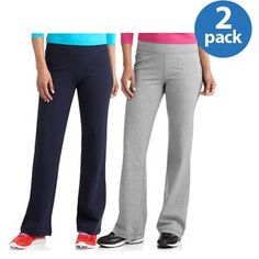 Danskin Now Women's Dri-More Bootcut Pants, 2-Pack Value Bundle Similar to these-better colors prefer though :) Large or XL
